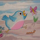 Jump for Joy - Blue Bird and Friends series - Art for a childs Room by TedReeder