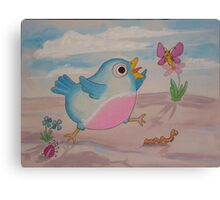 Jump for Joy - Blue Bird and Friends series - Art for a childs Room Canvas Print