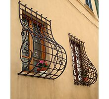 The windows of Colle di Val d'Elsa Photographic Print