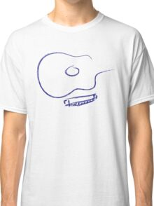 Guitar and Harp Brush Strokes Classic T-Shirt