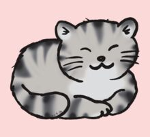 Grey tabby cat kitten Kids Tee