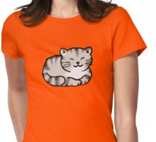 Grey tabby cat kitten Womens Fitted T-Shirt