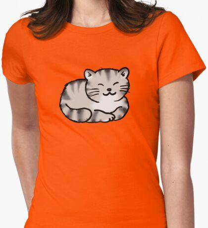 Grey tabby cat kitten Womens Fitted T-Shirt