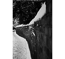 Black and White Curves Photographic Print