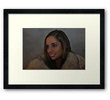 """ A Spakle In Her Eye "" Framed Print"
