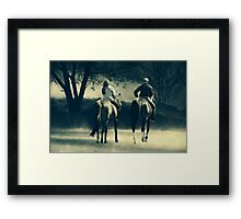 You Don't Have to Go it Alone.... Framed Print