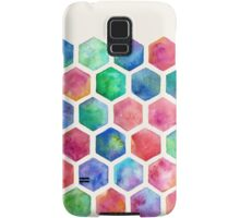 Hand Painted Watercolor Honeycomb Pattern Samsung Galaxy Case/Skin
