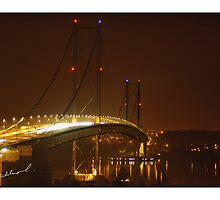 Forth road bridge night shot by Kevin Meldrum