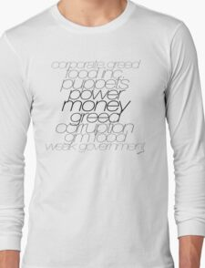 Gov vs Corporate Greed Long Sleeve T-Shirt