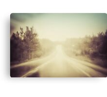 Rain Road Canvas Print
