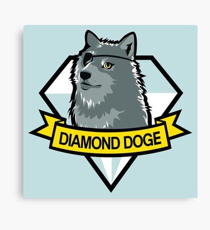 Diamond Doge Canvas Print