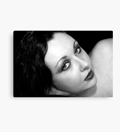 Portrait in Black & White Canvas Print