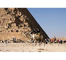 Giza  Pyramid Patrol Photographic Print