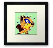 Funny Squirrel Framed Print