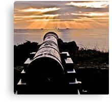 Sunset Over Prosperity Memorial Canon - Guernsey Canvas Print