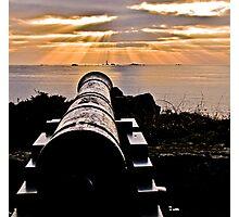 Sunset Over Prosperity Memorial Canon - Guernsey Photographic Print