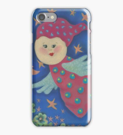 Angel. Flying cute angel for good dreams and happiness. :) iPhone Case/Skin