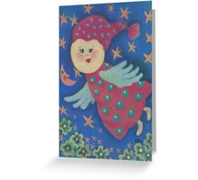 Angel. Flying cute angel for good dreams and happiness. :) Greeting Card