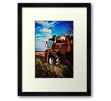 Old Tractor  Framed Print