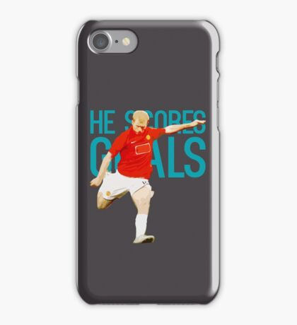 Paul Scholes - He Scores Goals iPhone Case/Skin