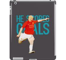 Paul Scholes - He Scores Goals iPad Case/Skin