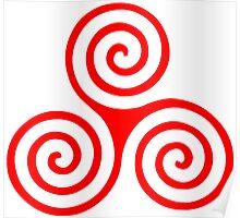 Triple Spiral Poster