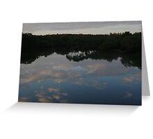 Reflections at White Patch Greeting Card