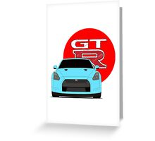 GTR blue Greeting Card