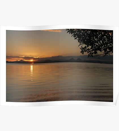 Sunset at Bribie Island Poster