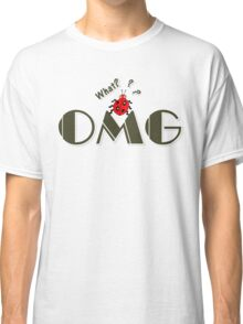 OMG What? Funny & Cute ladybug line art Classic T-Shirt