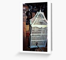 Vintage birdcage Greeting Card