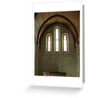 Mundoolun Church Stained Glass Greeting Card