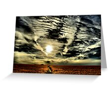 Apocalyptic sky  Greeting Card