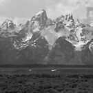 The Tetons in Black & White by Bob Moore