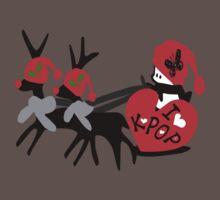 I love kpop txt reindeer snowman vector graphic art One Piece - Short Sleeve