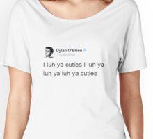 """""""I Luh Ya Cuties"""" - Dylan O'brien Tweet Women's Relaxed Fit T-Shirt"""