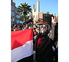 Egyptian Protester Photographic Print