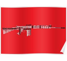 British FN FAL (SLR) A2 poster Poster