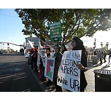 Supporting Egypt Demonstrators in Tempe Arizona Photographic Print