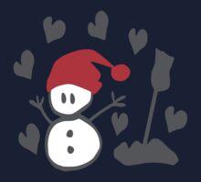 Snowman winter season holidays vector graphic art Kids Tee