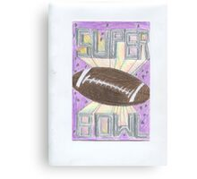 Super Bowl Football Canvas Print