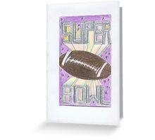 Super Bowl Football Greeting Card