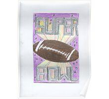 Super Bowl Football Poster