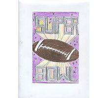 Super Bowl Football Photographic Print