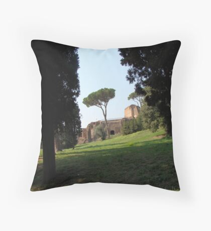 Looking Under the Umbrella Tree Throw Pillow