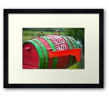 Winery Mailbox Framed Print