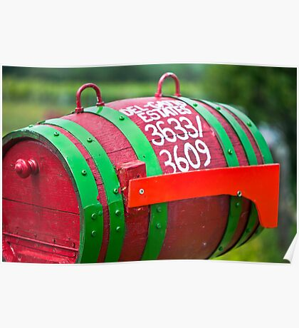 Winery Mailbox Poster