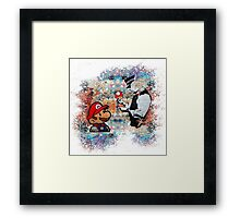 Banksy street art Graffiti London Cop Super Mario Funny Parody Framed Print