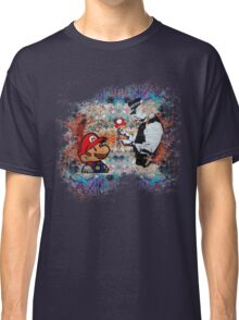 Banksy street art Graffiti London Cop Super Mario Funny Parody Classic T-Shirt