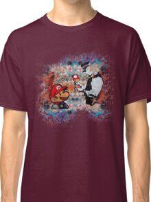 Banksy street art Graffiti London Cop Super Mario Funny Parody Classic T-Shirt